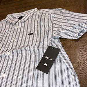✌🏻 RVCA men's shuffle stripe button down shirt